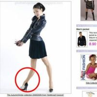 Photoshop fails (rubber leg, fake money)