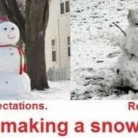 Snowman: Expectation vs Reality