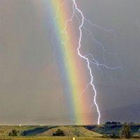 Rainbow lightning!