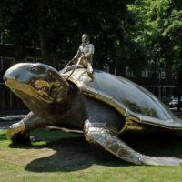 Epic statue of turtle rider