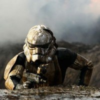 Stormtrooper training in the mud