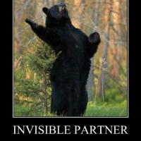 Bear's invisible dance partner