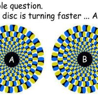Which disk turns faster?