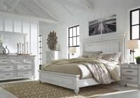 Kanwyn Whitewash King Panel Bedroom Set | Evansville ...