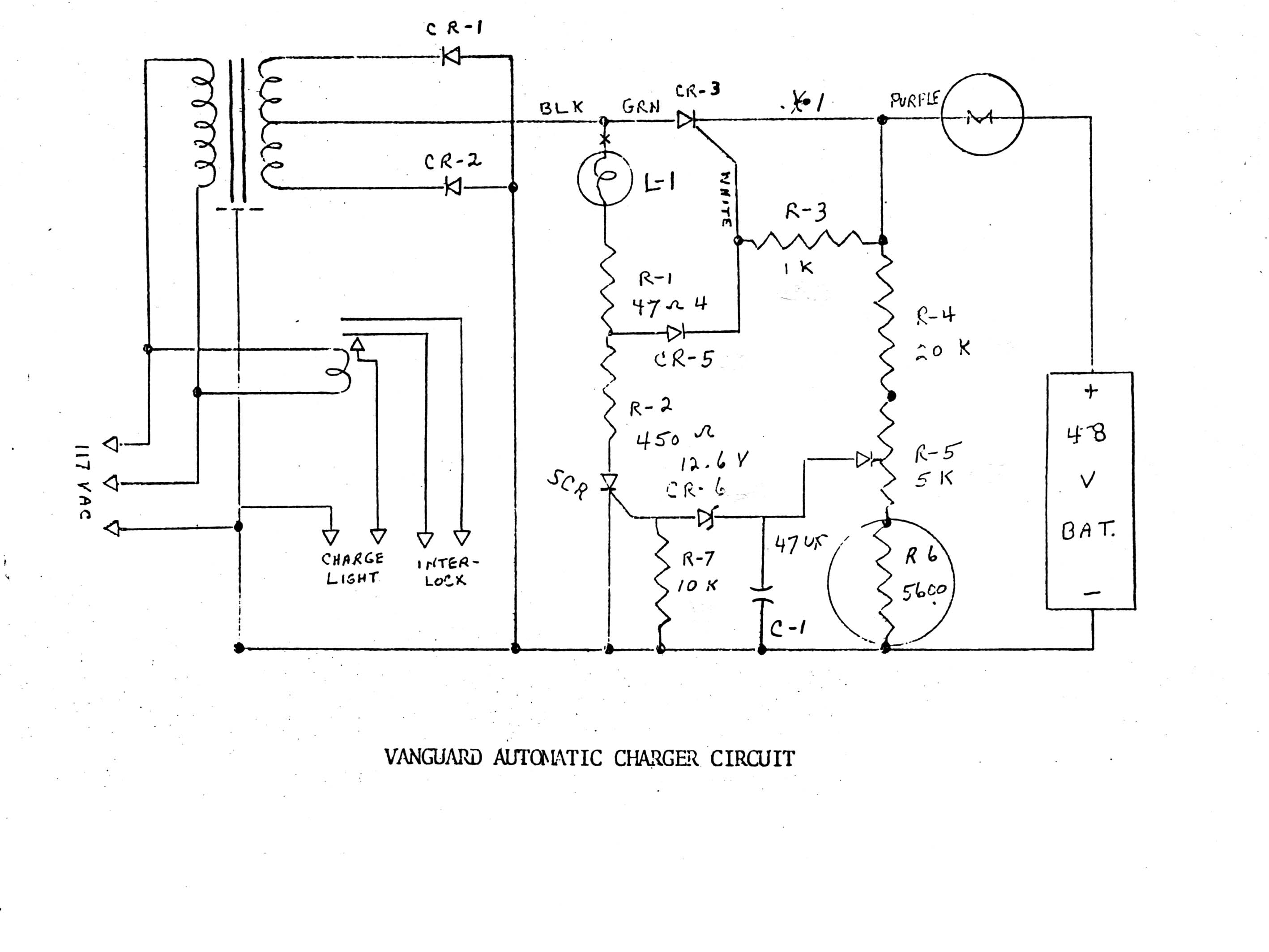 battery charger circuit diagram 48 volt battery wiring diagram