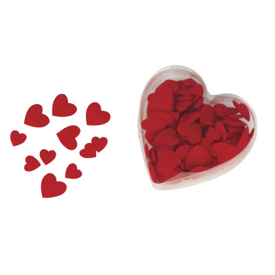 Velor fabric scattering parts heart, wadded, 100 from wholesale and