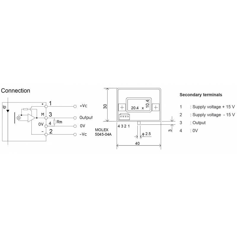 Current sensor LEM HTA 1000-S - EVEA - Kartmasters Fournisseur de