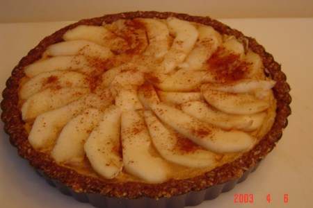 Walnut Pear Torte from Carolyn's Recipe Corner (raw vegan dessert)