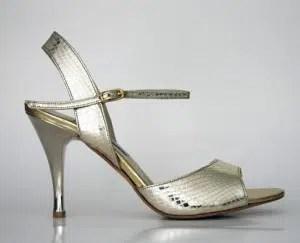 Chaussures de tango femmes marque Turquoise shoes - Modèle M02 Silver