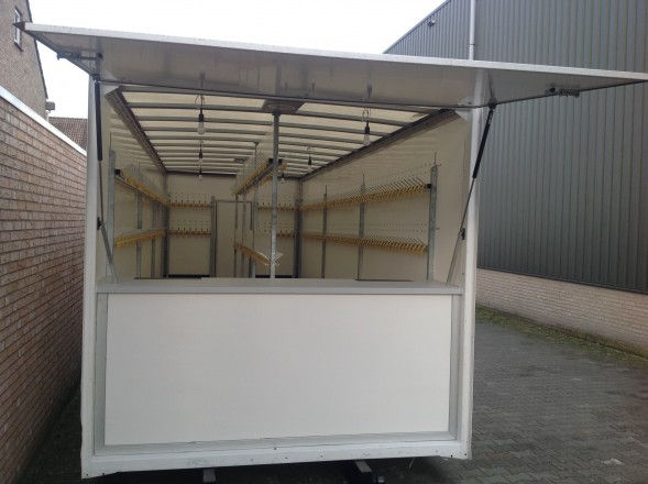 Lengte Gordijn Garderobe Container 1000 Haaks - Party En