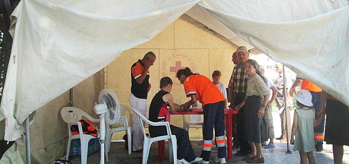 Campanie anticanicula! Corturi de prim-ajutor in mai multe zone din Constanta