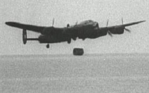 Dambusters plane disposes of empty barrel of 1943 claret