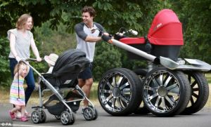 A pram almost as large as their sense of entitlement.