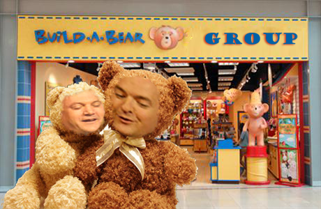 George Osbear and Ted Balls entering the meeting