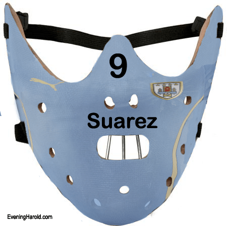 An exact replica of the one that should have been worn by Luiz Suarez