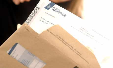 Opening a tax return form from HMRC