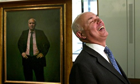 Iain Duncan Smith laughing