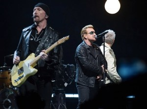 Bono singing a few songs from the new album
