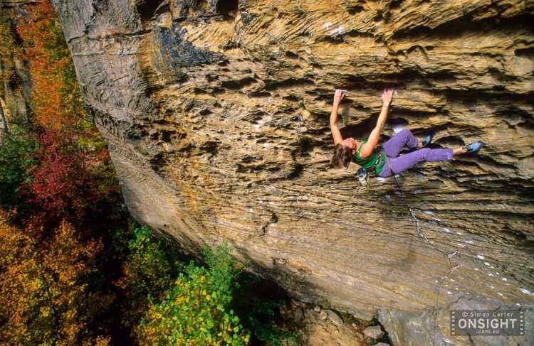 Whitney Boland, Ultra Perm (5.13d). Photo: Simon Carter