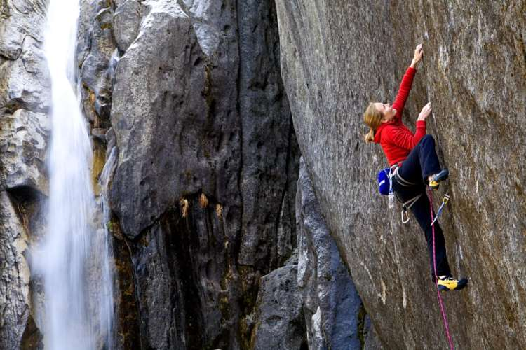 Beth Rodden, Meltdown (5.14c), FA. Photo:  Corey Rich