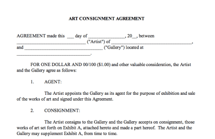 Contract Cancellation Letter Buzzle Consignment Agreement Center For Art Law