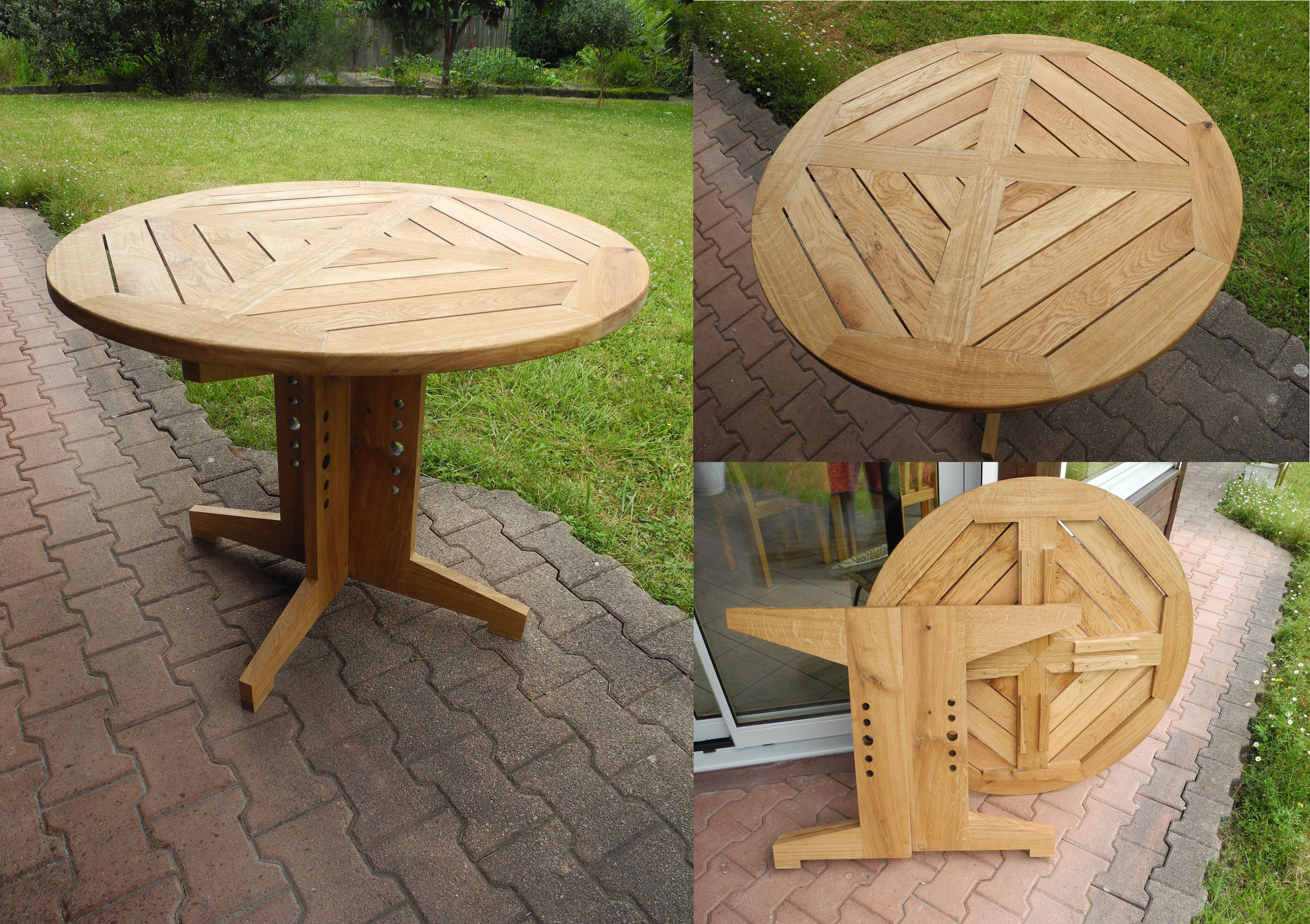 Table Ronde En Bois Exterieur Table Ronde – 500 € – Eventail Menuiserie