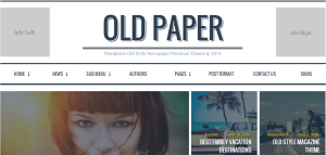 Old Paper wordpress theme