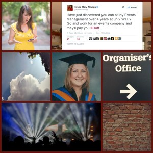 Kirstie Allsopp and Event Management Degree Tweets