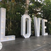 5ft LOVE Letters on hire from Eventech UK