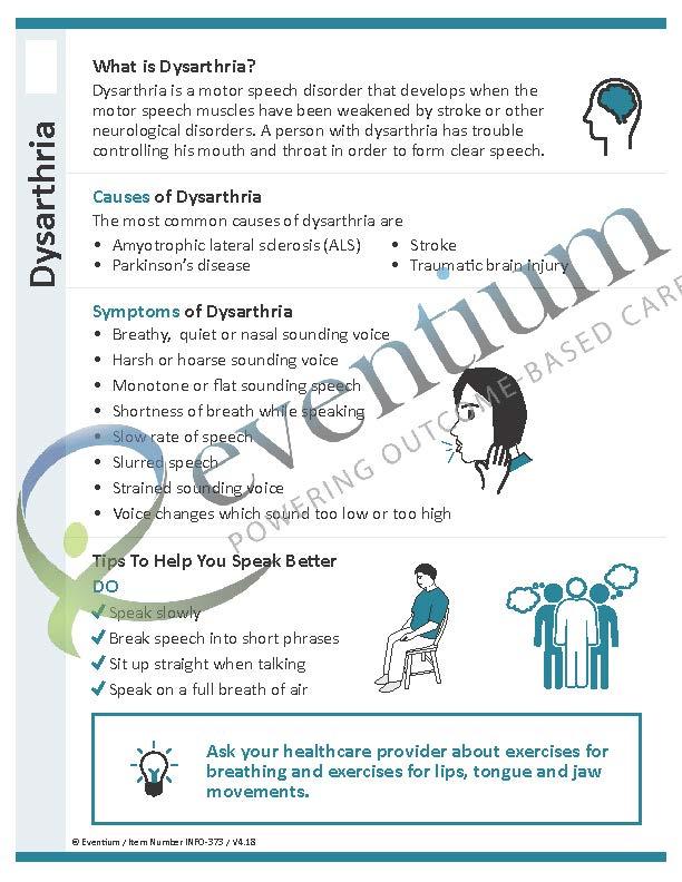 Dysarthria Eventium