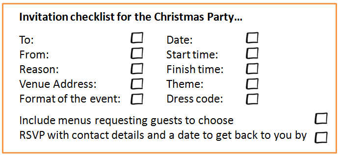 Christmas Parties 18 Steps to Planning the Christmas Party - christmas list format