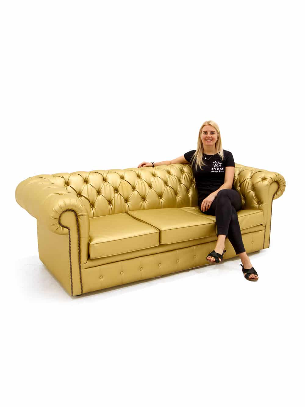 Chesterfield Sofa Samt Rosa Gold Chesterfield Sofa Three Seater