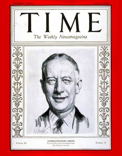 Allfred E Smith on Cover of Time Magazine