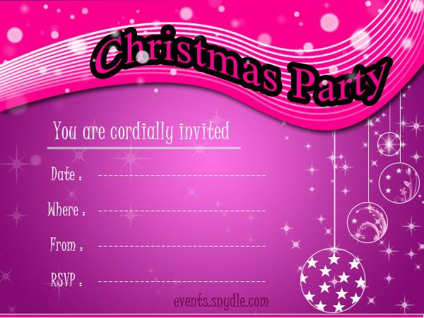 Christmas Invitation Cards - Festival Around the World