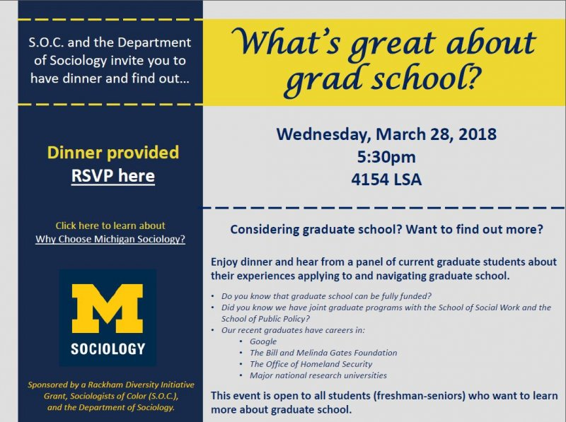 What\u0027s Great About Grad School? Happening @ Michigan