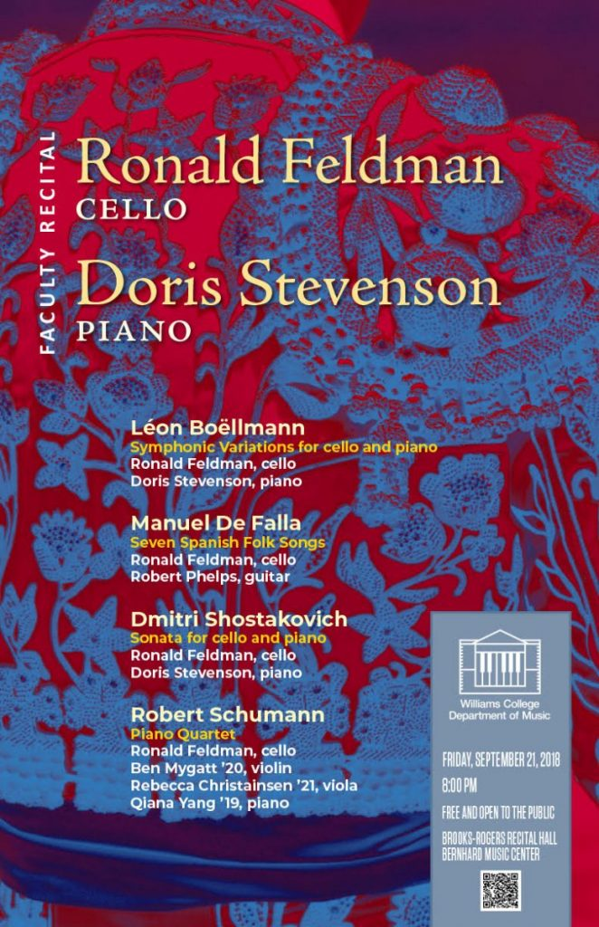Ronald Feldman, cello; Doris Stevenson, piano \u2013 Faculty Recital