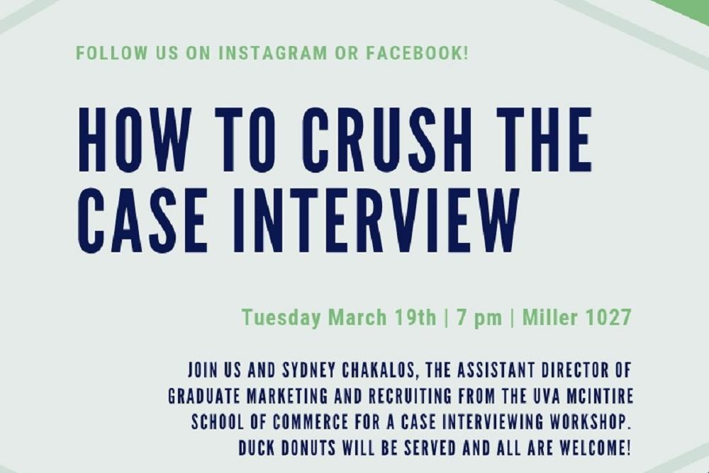 Women in Business How to Crush the Case Interview - WM Featured Events