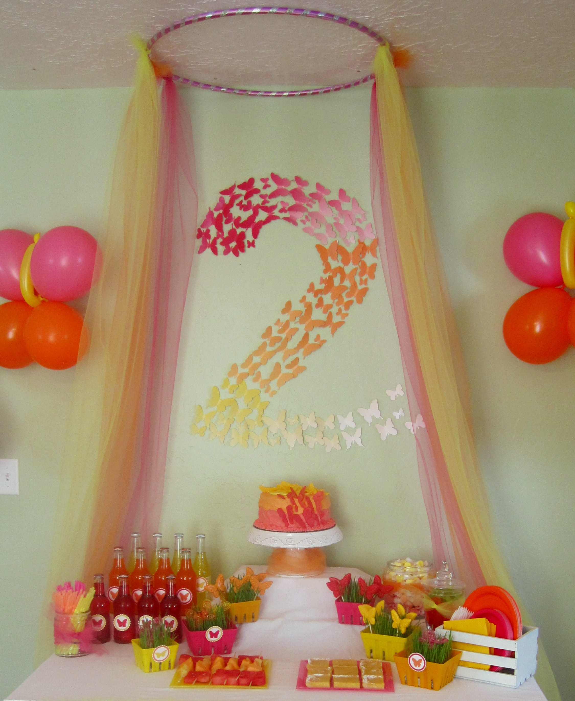 Decoration For Party Butterfly Themed Birthday Party Decorations Events To