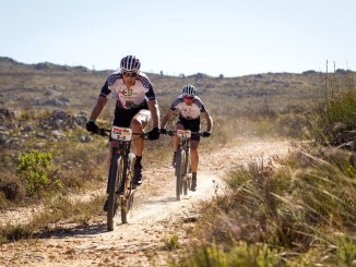 The sandy and rocky roads made for difficult riding conditions, were the risk of a crash or a puncture was always significant. Photo by Nick Muzik/Cape Epic/SPORTZPICS.