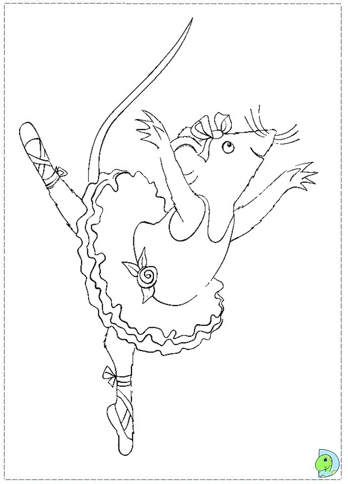 Get This Free Angelina Ballerina Coloring Pages To Print