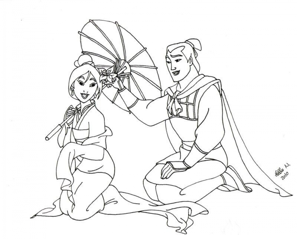 Disney Mulan Coloring Pages - Democraciaejustica