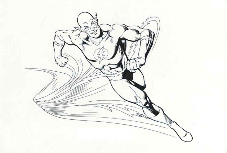Flash Superhero Coloring Pages - Eskayalitim