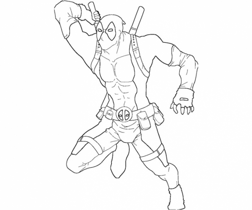 Get This Printable Deadpool Coloring Pages Online 686815