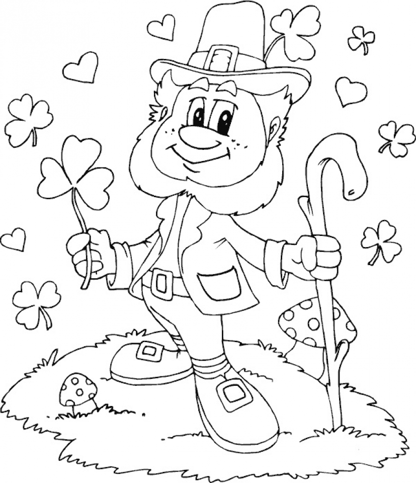 Printable coloring pages pot of gold -  Printable Coloring Pages Leprechaun 19 Download