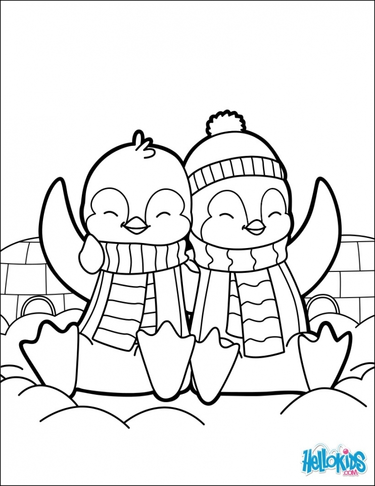 Get This Cute Baby Penguin Coloring Pages Free Printable 89516 !