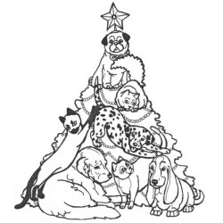 Small Crop Of Christmas Tree Coloring Page