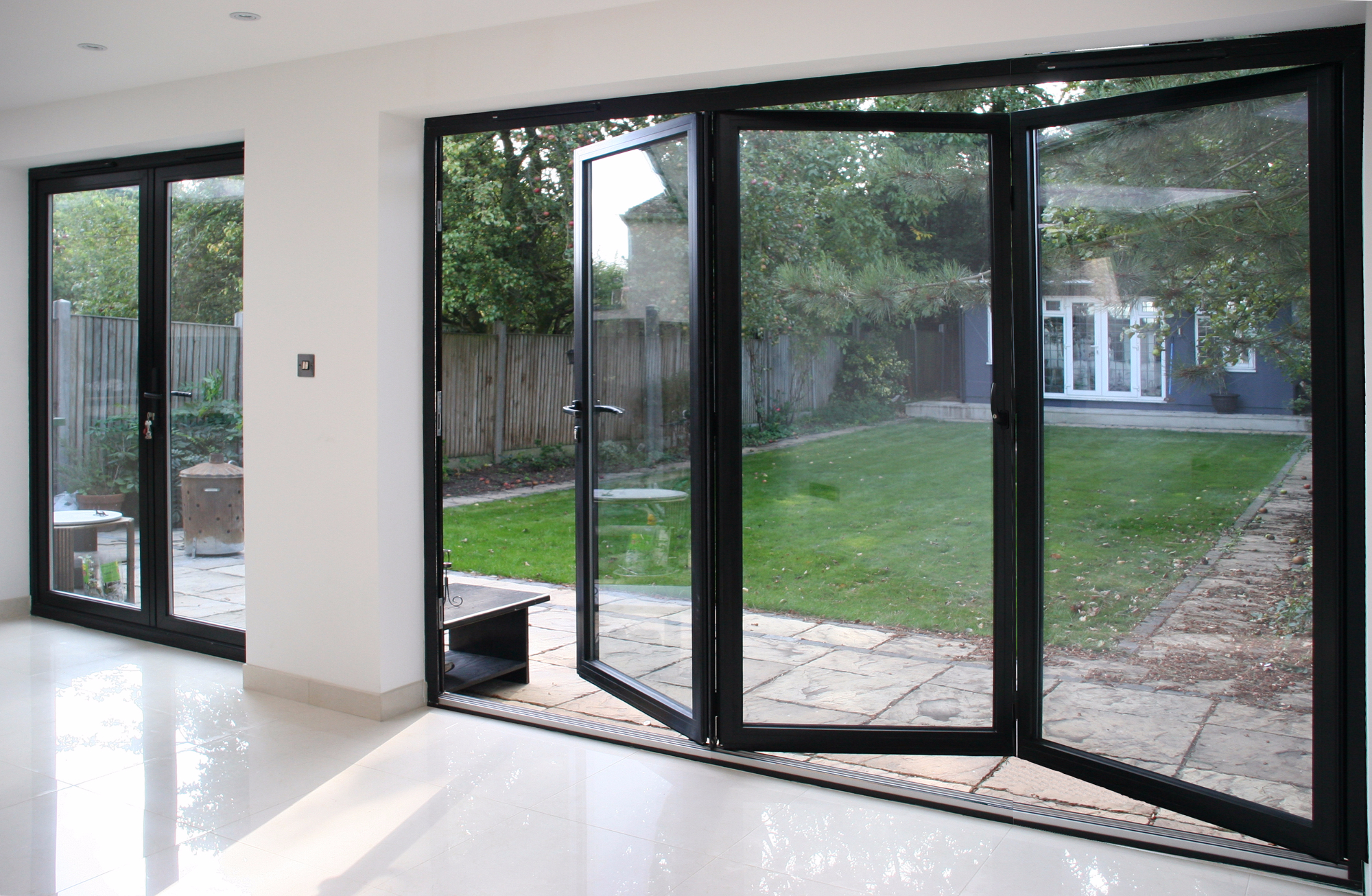 Masters External Doors Byfold Doors And Brown 3 Panel Aluminium Bifold Door