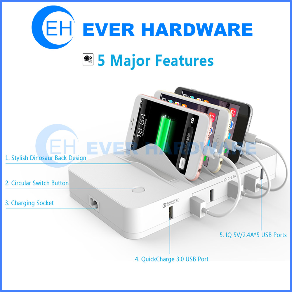 Stylish Charging Station Usb 3 Charging Station Usb Charging Hub Organizer For Smartphone Tablet Multiple Devices