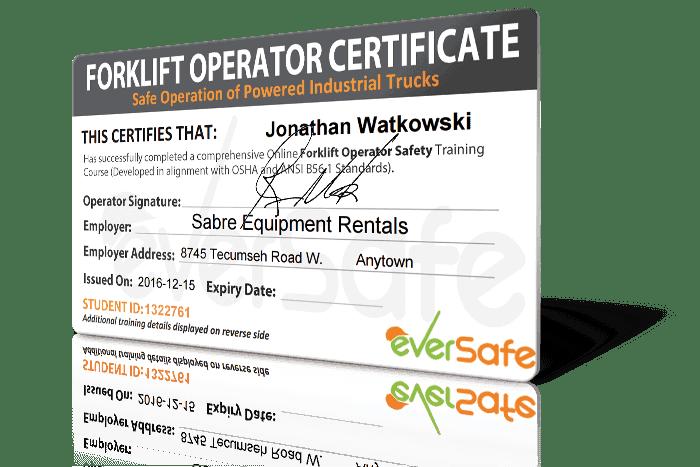 Forklift Training Certificate Template - Costumepartyrun