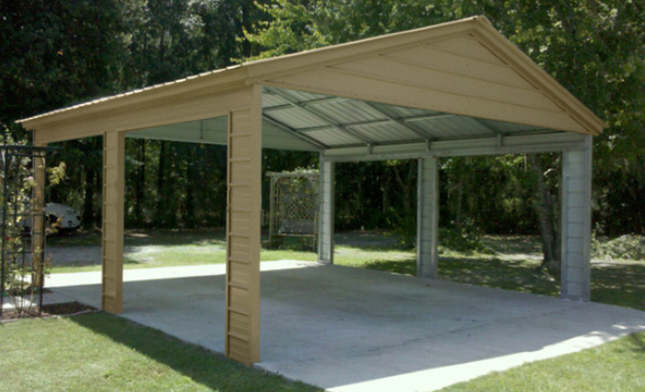 Dachkonstruktion Carport Metal Carports, Steel Carport Kits, Car Ports, Portable